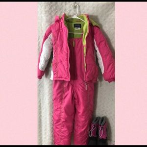 Girl's Snowsuit Jacket and Pants with Boots